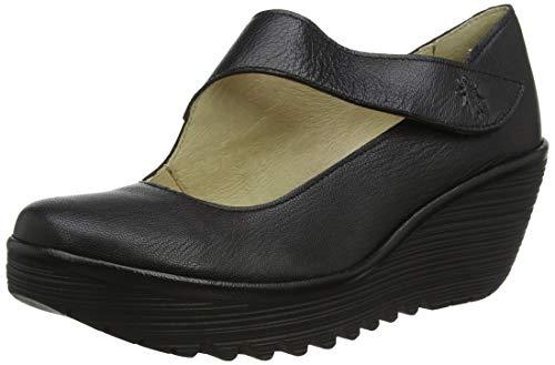 Fly London Yasi682fly, Zapatos con plataforma Mujer, Negro (Black 2000), 36 EU