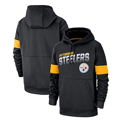 TGCF Men's Hoodie - Pittsburgh Steelers American Football Pullover Hoodie Long Sleeve Rugby Jersey Sweatshirt, European and American Printed Sweater, NFL Football,A,XXL