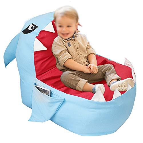 GOTOTOP Stofftier Aufbewahrungssitz Sitzsack, weiches Plüsch Spielzeug Organizer Sofa für Jungen und Mädchen Erwachsene Größe 31,5 * 31,5 * 19,69 Zoll (Keine Füllung)(Blau)