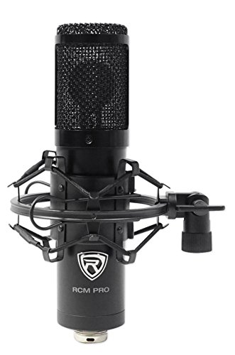 Rockville RCM PRO Studio//Recording Condenser Microphone+Headphones+Iso Shield