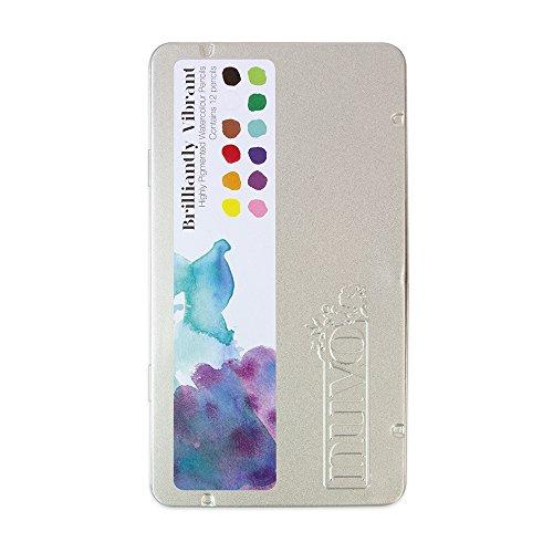 Tonic Studios Nuvo Watercolor Pencils, Multicolor