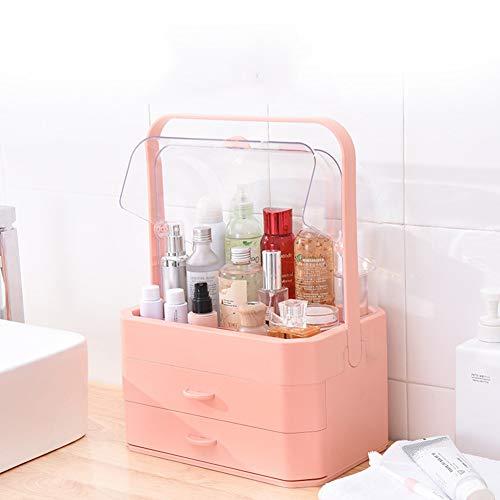 Organisateur de Cosmétiques, Rangement de Maquillage Support D'écran Cosmétique pour de Ranger de Beauté, Maquillages, Parfums, Bijoux (Couleur : Rose)