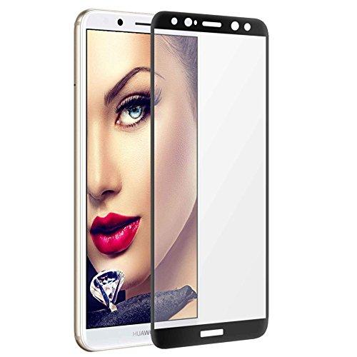 mtb more energy Gewölbtes Premium 5D Schutzglas für Huawei Mate 10 Lite (5.9'') - schwarz - 100% Haftung - Curved Full Glue Display Glasfolie