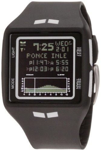 Big Sale Vestal Men's BRG002 Brig Tide and Train Black and White Digital Polyurethane Surf Watch