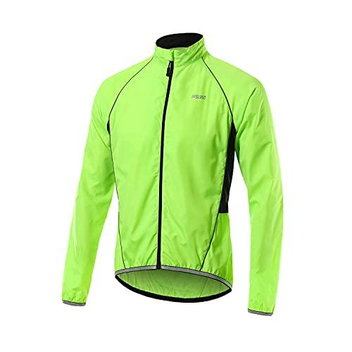 Mantimes Mens Ciclismo chaqueta a prueba de viento anti-UV Jersey ligero resistente al agua Running Coat cortavientos ropa deportiva al aire libre