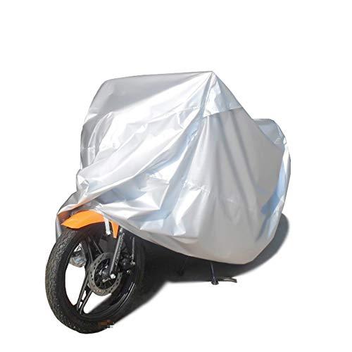 FCZBHT Couverture de Meubles Argent Moto Couvercle De Protection, Crème Solaire/Étanche À La Poussière/Imperméable Garde poussière (Couleur : Silver, Taille : 285 * 105 * 125cm)