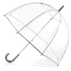 "CLEAR STYLISH BUBBLE UMBRELLA: Waterproof clear canopy for maximum rain coverage and see through visibility. WINDPROOF AND RAINPROOF: With 51"" canopy, you'll be protected from the wind and the rain so hair and clothes stay dry DURABLE CONSTRUCTION: S..."