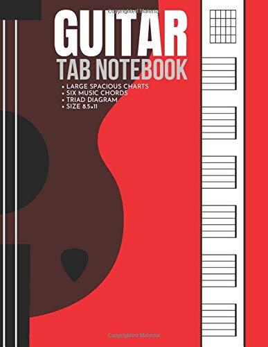 Guitar Tab Notebook: Blank Guitar Tablature Book Manuscript Paper Sheets