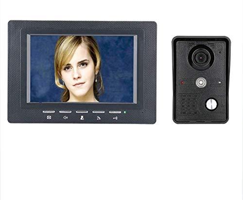 Lsmaa 7-inch video-deurintercom Kit 1-camera 1-monitor nachtzicht met IR-CUT-CMOS-700TV lijnen ondersteuning handsfree, begrossingsfunctie
