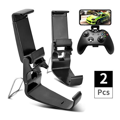 DLseego 2 Pack Xbox One Controller Phone Mount Clip, EIN Klappbarer Handyhalter für Einen Game Controller,Ordner für Handyspiele für Xbox One S/X,SteelSeries Nimbus und XL Wireless Controller