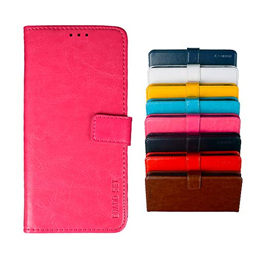 COVO® Hülle für Leagoo S8 PU Leder Brieftasche Hülle mit Stand Funktion & Magnetisch Schnalle Flip Handyhülle für Leagoo S8-Rose rot