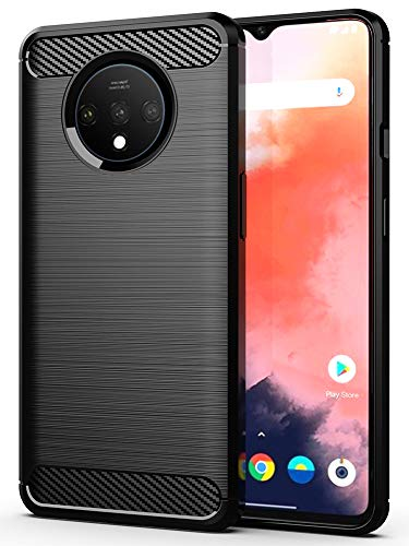 HuYin OnePlus 7T Case,1+7T Case Frosted Shield Luxury Slim Design for OnePlus 7T Phone (Black)