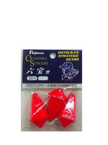 フジワラ(FUJIWARA) カリスマ六宝型 20号 蛍光レッド
