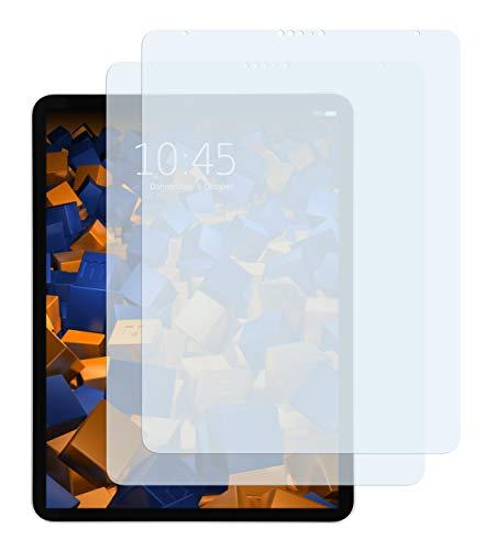 mumbi Schutzfolie kompatibel mit iPad Pro 2018 2020 12,9 Zoll Folie klar, Bildschirmschutzfolie (2X)