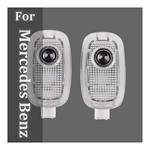 Autotür Willkommen Licht 2ST 3D-LED-Auto-Tür-Licht kompatibel mit Mercedes Benz S V CL-Klasse W221 W447 C216 Coupe AMG Auto Logo Willkommen Lampen-Projektor Sensorleuchten