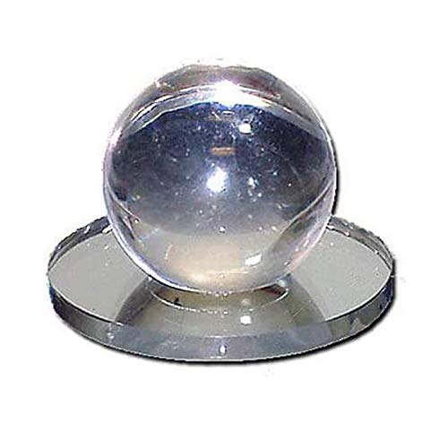 CRL Clear Acrylic 2' Stick-On Ball Mirror Knob - 3401707