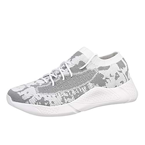 Big Save! BIKETAFUWY Men's Flying Woven Sneakers Outdoor Mesh Running Shoes Breathable Lightweight A...