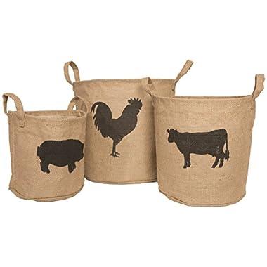 Heritage Lace FH-018 Farmhouse 3Pc Storage Baskets