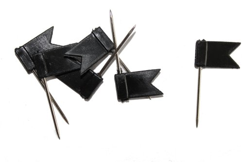 dalipo 31015 - Markiernadeln, Fahne, 100 Stück, schwarz