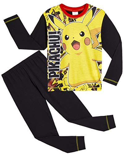 Pokemon Pikachu Jungen-Nachtwäsche Schlafanzug PJs 7-8 Jahre