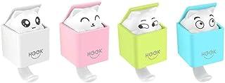 LuoCoCo Leuke Kat Zelfklevende Haakje, Creatieve Animal Decoratieve Wandhaak 2kilo max Voor Babykamer, Slaapkamer, Keuken,...