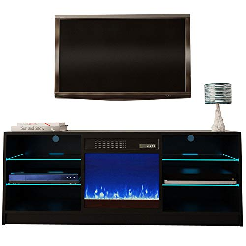 Meble Furniture Manhattan Electric Fireplace Modern 58' TV Stand