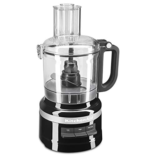 KitchenAid KFP0718ER 7-Cup Food Processor Chop, Puree, Shred and Slice - Onyx Black