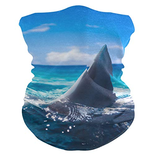 Woman Man Face Mask Sunscreen Breathable Ocean Sea Animal Shark Fish Face Cover Bandana Face Scarf Headwear Neck Gaiter For UV Dust Wind Sun Protection