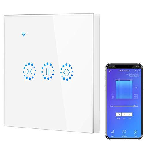 Smart WIFI Interruptor táctil inalámbrico, Frontoppy Interruptor de persiana WIFI,Interruptor de Persianas Eléctricas, Interruptor de Control Inteligente de Pared con Aplicación o Voz