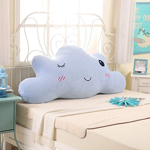 ZfgG Bedside cushions Cute princess big pillow Cloud shape children's mat Removable and washable (Color : E, Size : 180cm)