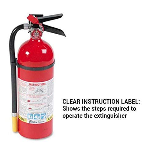 Kidde 466112 ABC Pro Multi-Purpose Dry Chemical Fire Extinguisher, UL rated 3-A, 40-B:C, Easy to Read Gauge, Easy to Pull Safety Pin / 2-Fire Extinguishers