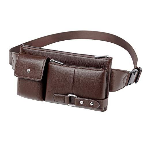 Leder-Gürteltasche für Herren, modisch, Vintage, für den Alltag, für Reisen, Wandern, Laufen