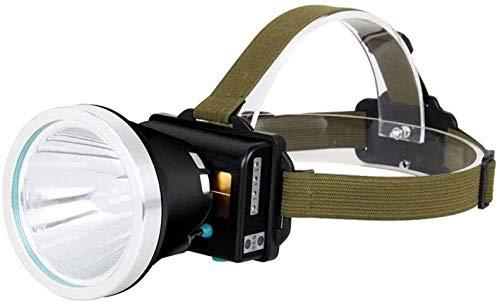 XUERUIGANG Linterna de faro LED - Lámpara de cabeza de broadbeam zoomable - para espeleología Spelunking...