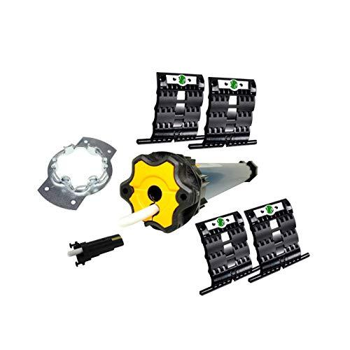 Rolladen Renovierungskit mit smarotech Mechanik-Set SW60 und Somfy Ilmo 2 50 WT 6/17 mit 6 Nm (bis 2,6 qm)