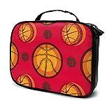 Grunge Basketball () Estuche organizador de maquillaje de viaje, bolsa de almacenamiento portátil para cosméticos, brochas de maquillaje, joyas, accesorios digitales