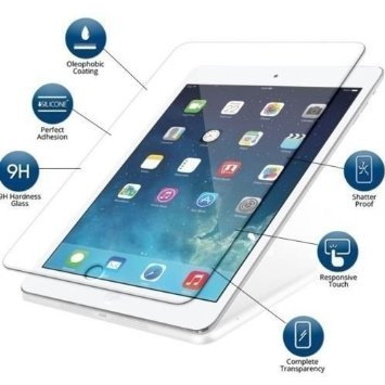 G4GADGET Premium Explosion Proof Tempered Glass Screen Protector Apple iPad Air 1 and 2