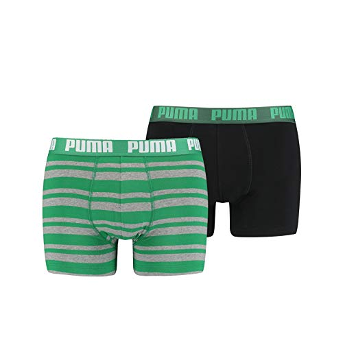 PUMA Herren Puma Heritage Stripe Men's (2 Pack) Boxer Shorts, Green, L EU