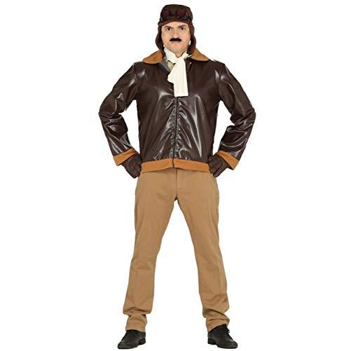 Guirca Disfraz de Aviador para Hombre Talla L