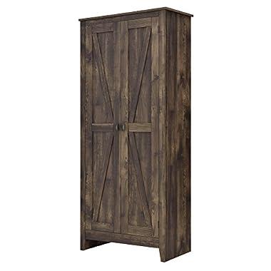 Ameriwood Home 7532096COM Farmington Wide Storage Cabinet, 31.5 , Rustic
