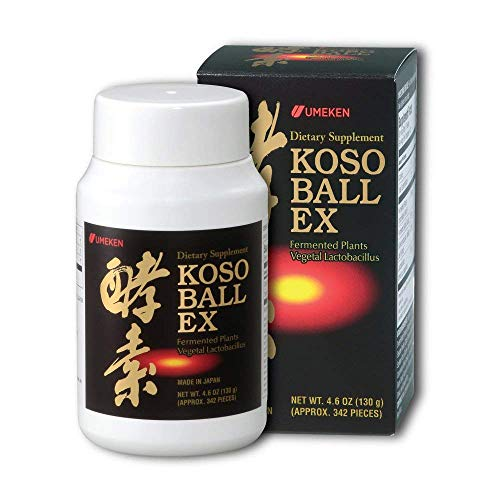 Umeken Special Koso Ball EX, 40 Day Supply- Contain 108 Different Types of Fruit, Vegetables, and Herbs. Small Bottle. 340 Balls. Made in Japan.