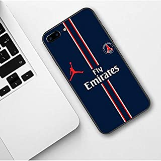 Half-Wrapped Case - Fly PSG Paris Football Jersey Jordan Sport Print Soft Silicone TPU Phone Case for iPhone SE 5 5S.
