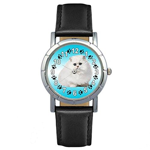 Timest - Gato Persa - Reloj para Mujer con Correa...