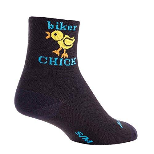 SockGuy, Women's Cycling Sock, Biker Chick, 3 inch