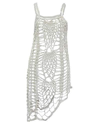 shermie Women's Swimsuit Cover Ups Hollow Out Short Bikini Beach Coverups (X-Large, White, x_l)
