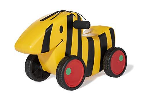 Ferbedo 15 000 7 Rutschauto Tigerente (Rutschfahrzeug/Rutscher mit Flüsterlaufreifen und Softgriff), Schwarz/gelb