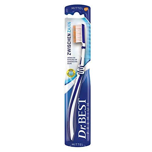 Dr. Best Zwischenzahn Zahnbürste, Mittel, für eine gründliche Reinigung der Zahnzwischenräume mit Spezialborsten, 1 Stk.