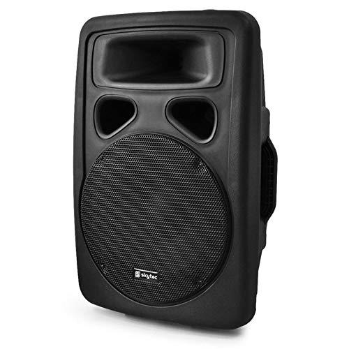 Skytec SP1000A Paar PA-Lautsprecher 25cm Aktiv-Box 2x500W ABS schwarz