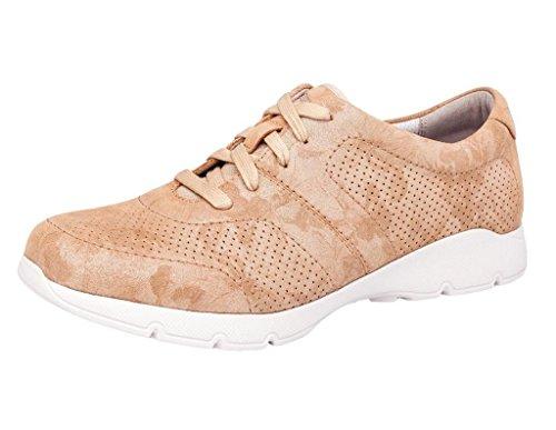 Dansko Alberta Collection Women's Alissa Fashion Sneaker- Gold Leather- 38 M EU (7.5-8 US)