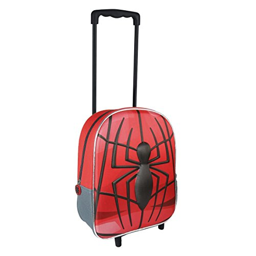 Cerdá Marvel 2100002099, Mochila Trolley Spiderman, Efecto 3D, 31 cm, Rojo