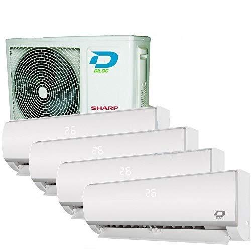 Climatiseur inverter quadri split Frozen R32, 9000+9000+12000+12000Btu Diloc, classe A++/A+, fonction smart Wi-Fi